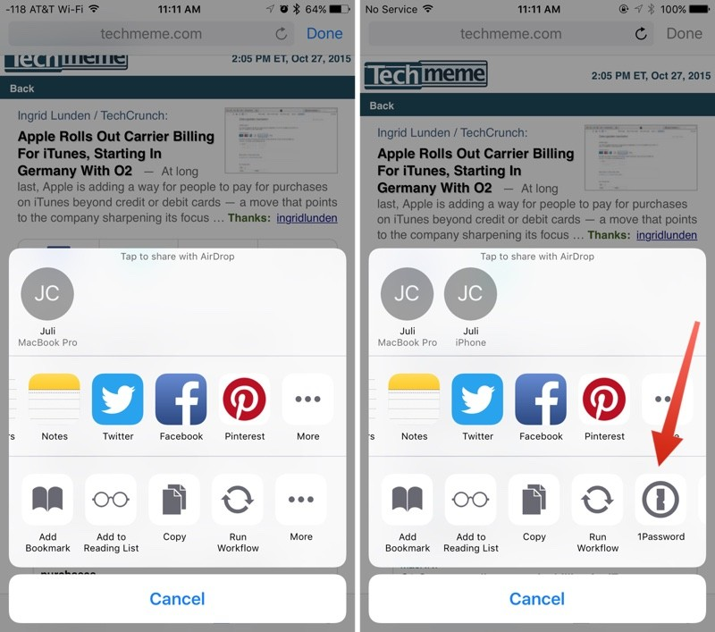 iOS 9.2 Safari View