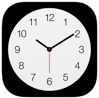 Apple clock icon