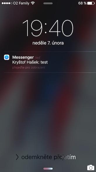Jak skrýt text zpráv z Messengeru 1