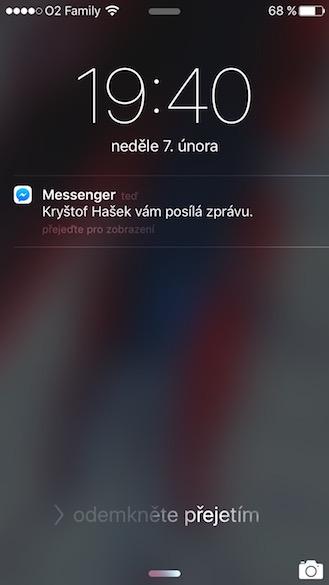 Jak skrýt text zpráv z Messengeru 2