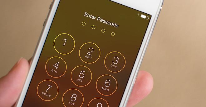 iPhone passcode heslo