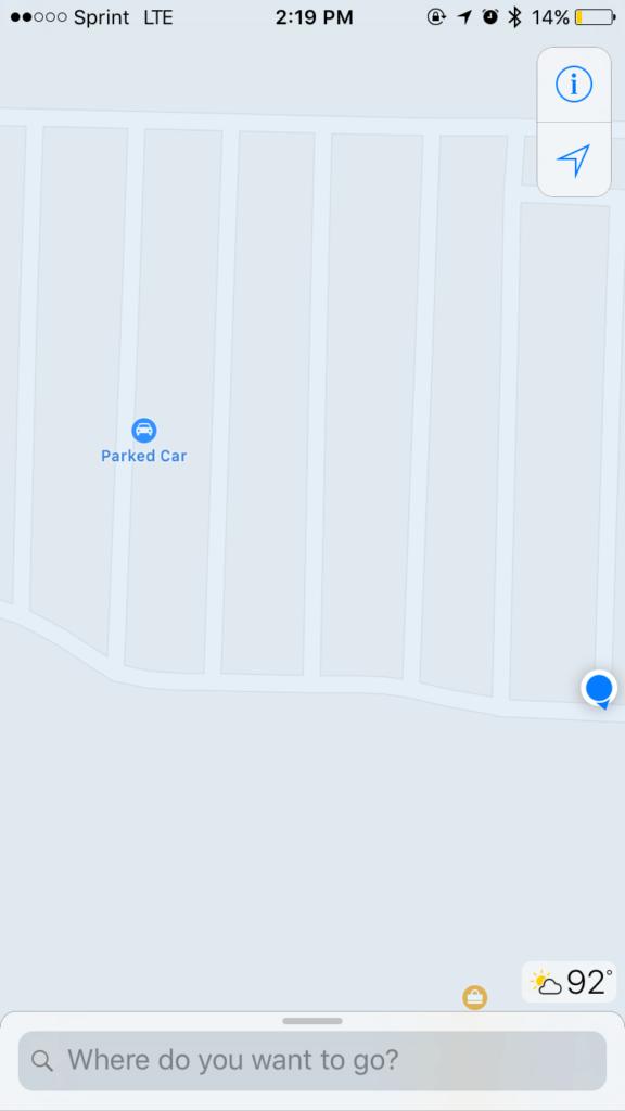 iOS 10 Apple Mapy parkovaci misto 2 f811fabc70