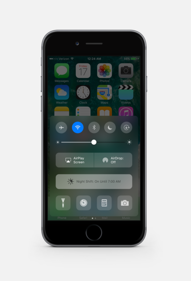 iOS 10 Dark mode 1