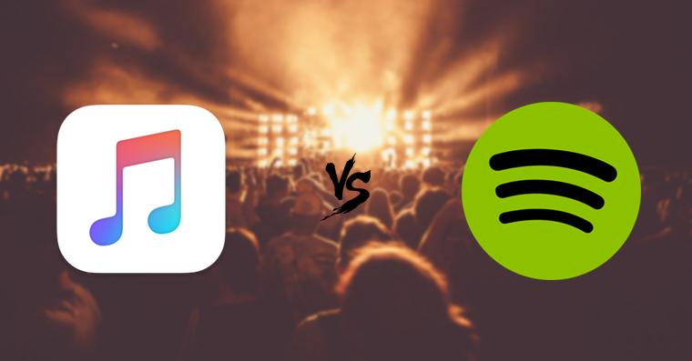 Apple Music vs Spotify FB