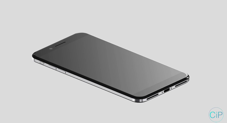 iPhone 8 koncept nerezova ocel 1