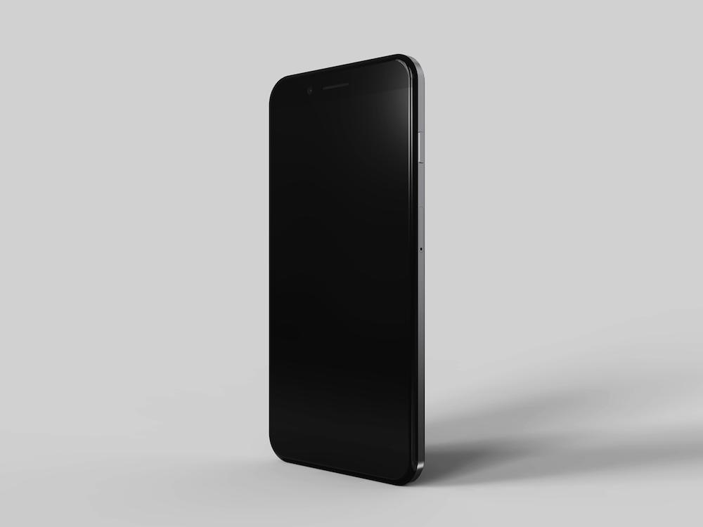 iPhone8 koncept nerezova ocel 13