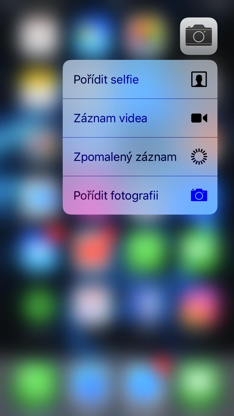 Kompletní seznam 3D Touch zkratek pro iPhone 6s a novější