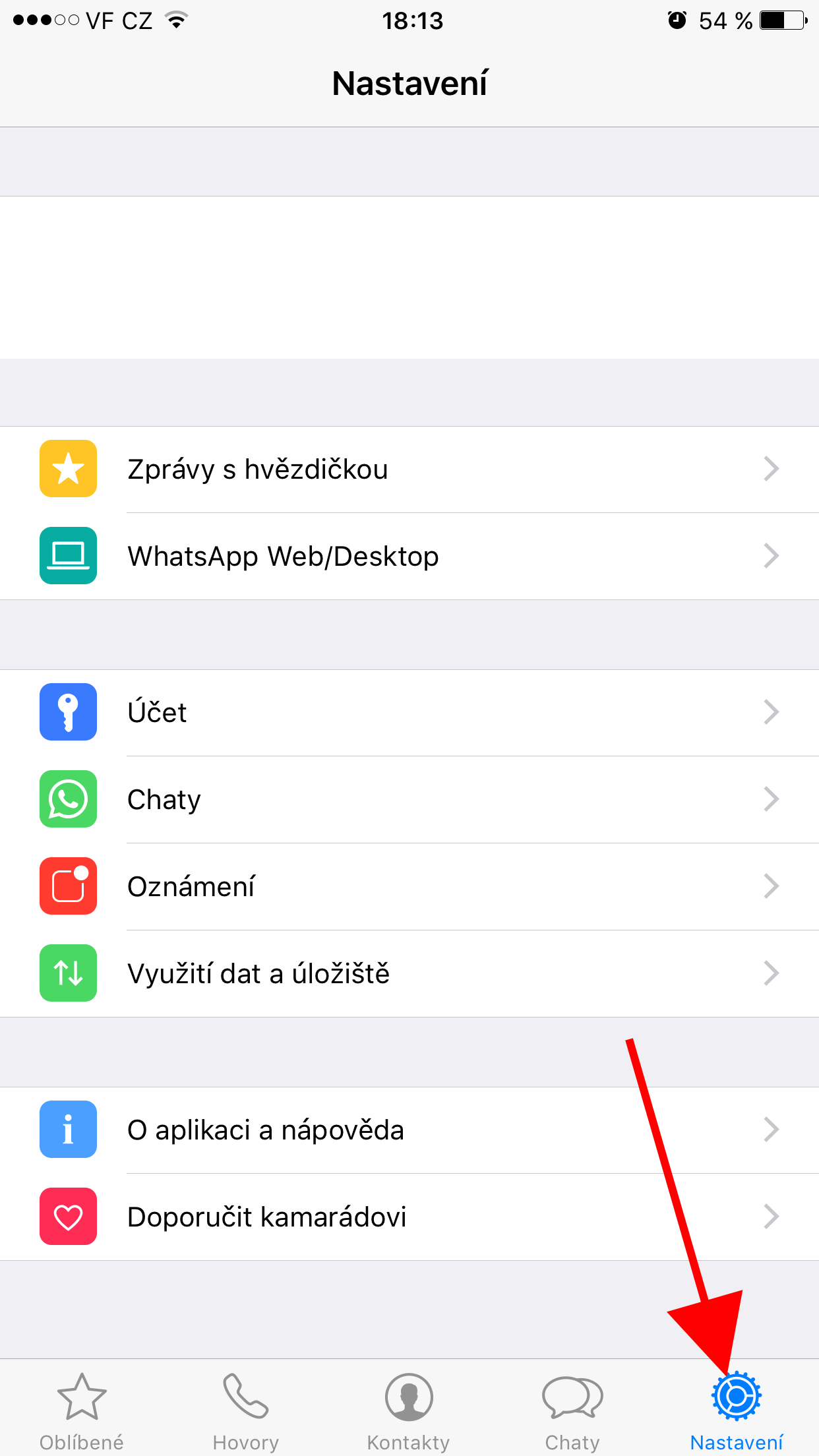 jak si ve whatsapp na ios aktivovat dvouf zov ov en