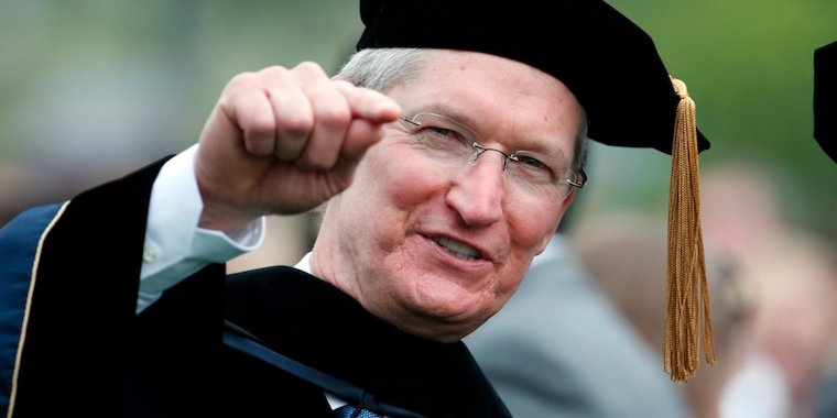 Tim Cook university fb