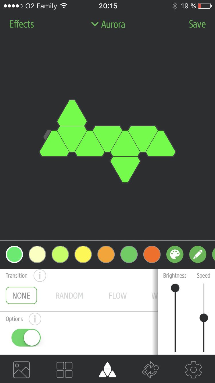 Nanoleaf Aurora app 1