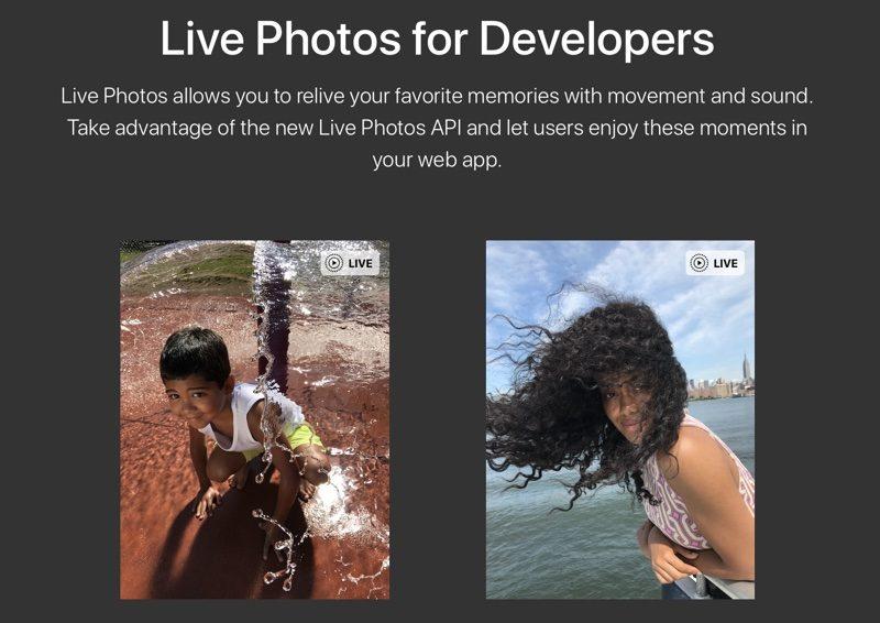 live photos dev