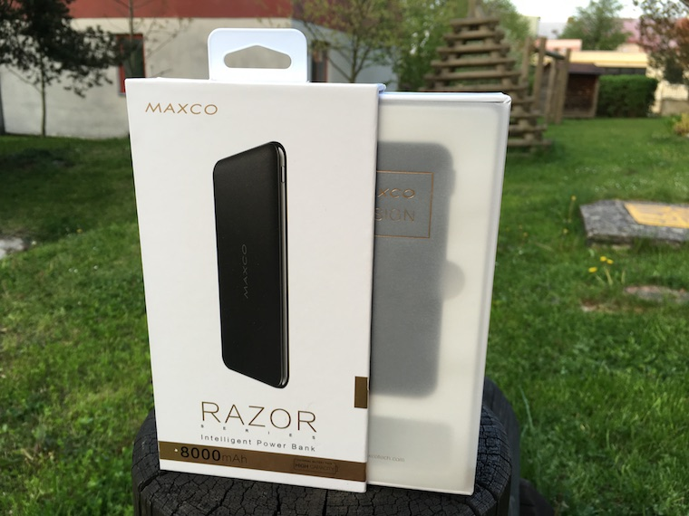 Maxco Razor powerbanka baleni 2