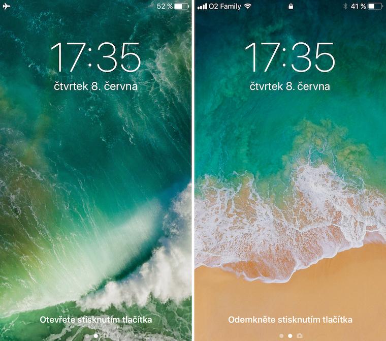iOS 10 vs iOS 11 srovnani 1