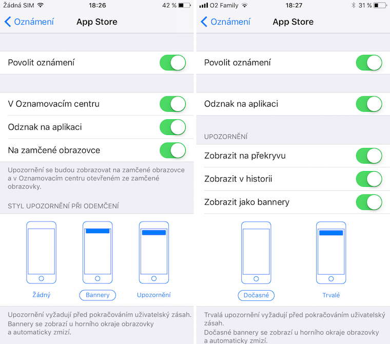 iOS 10 vs iOS 11 srovnani 25