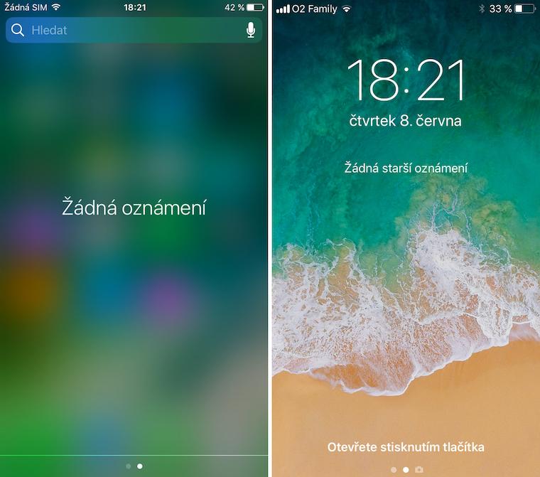 iOS 10 vs iOS 11 srovnani 9