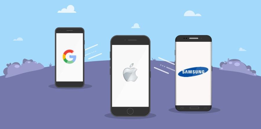Apple vs Google vs Samsung FB