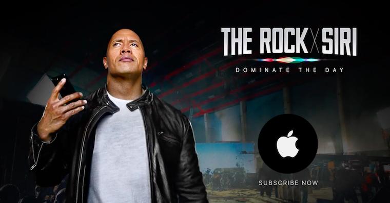 The Rock x Siri Dominate the Day FB 2