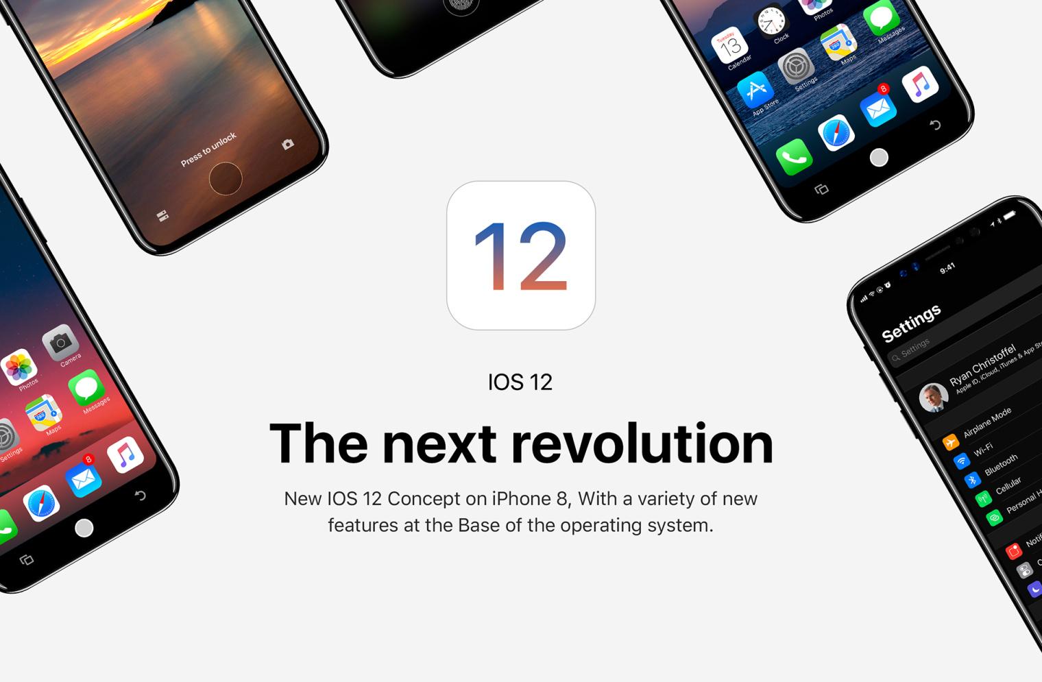 iOS 12 iphone8 concept (1)