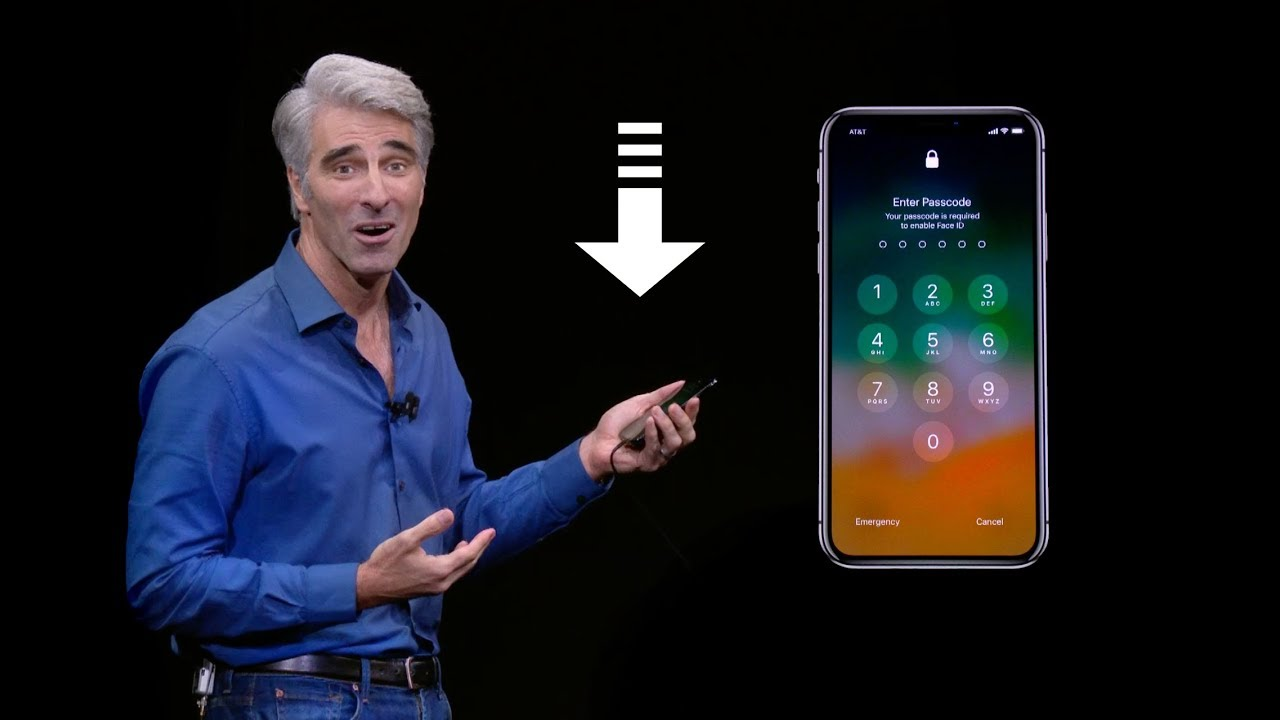 craig federighi iPhone X Face ID fail