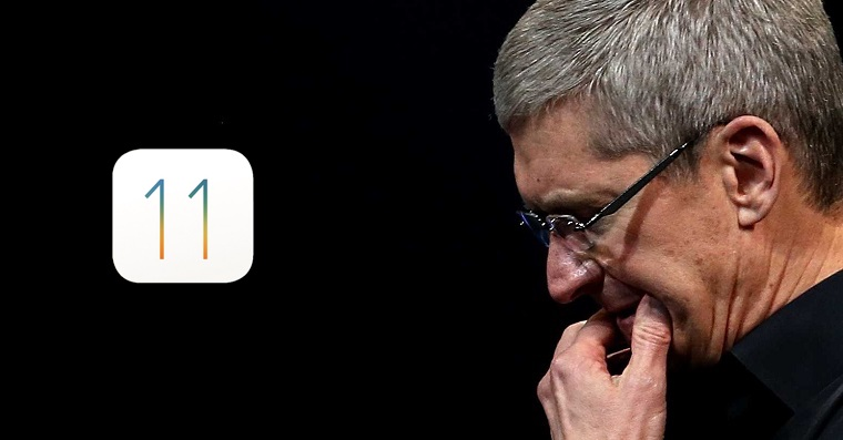 iOS 11 Sad Tim Cook FB