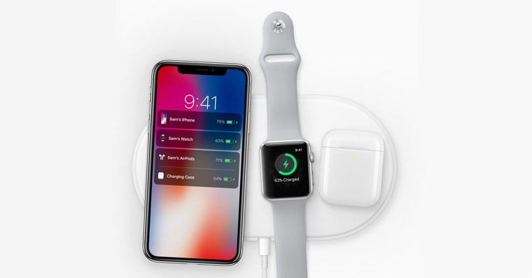iPhone X Apple Watch AirPods wireless charging FB