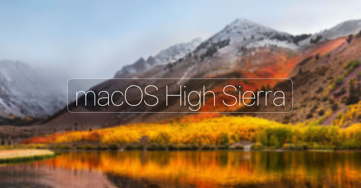 macOS High Sierra FB