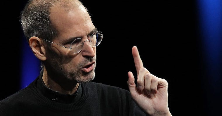 Steve Jobs finger FB