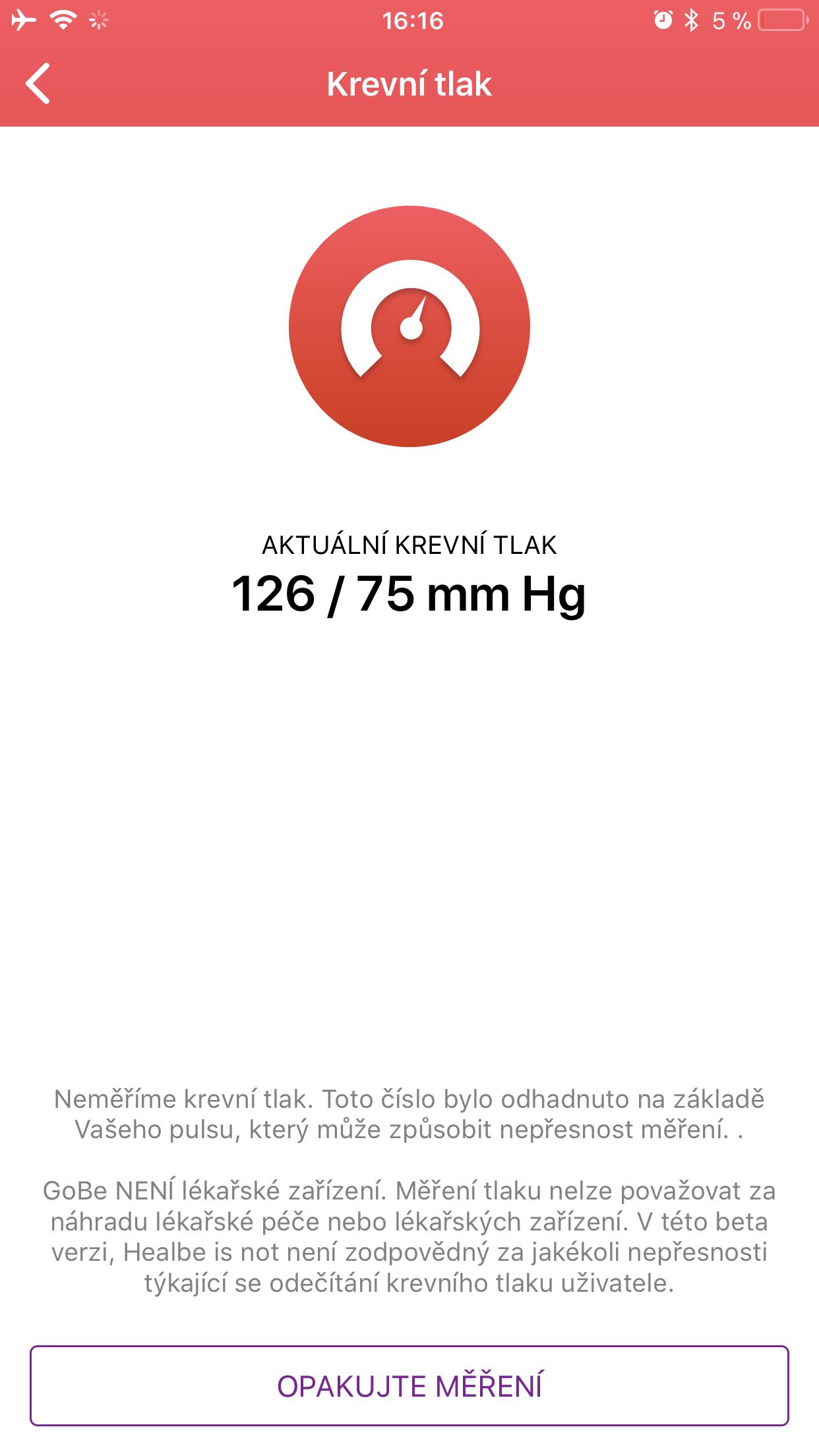 Healbe GoBe 2 mereni tlaku 4