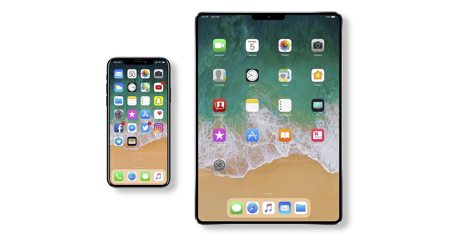 iPad-2018-Face-ID iPhone X iPad X FB