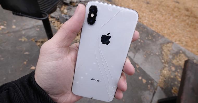 iPhone X damaged FB