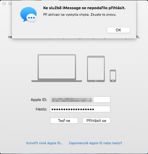 nejede imessage facetime