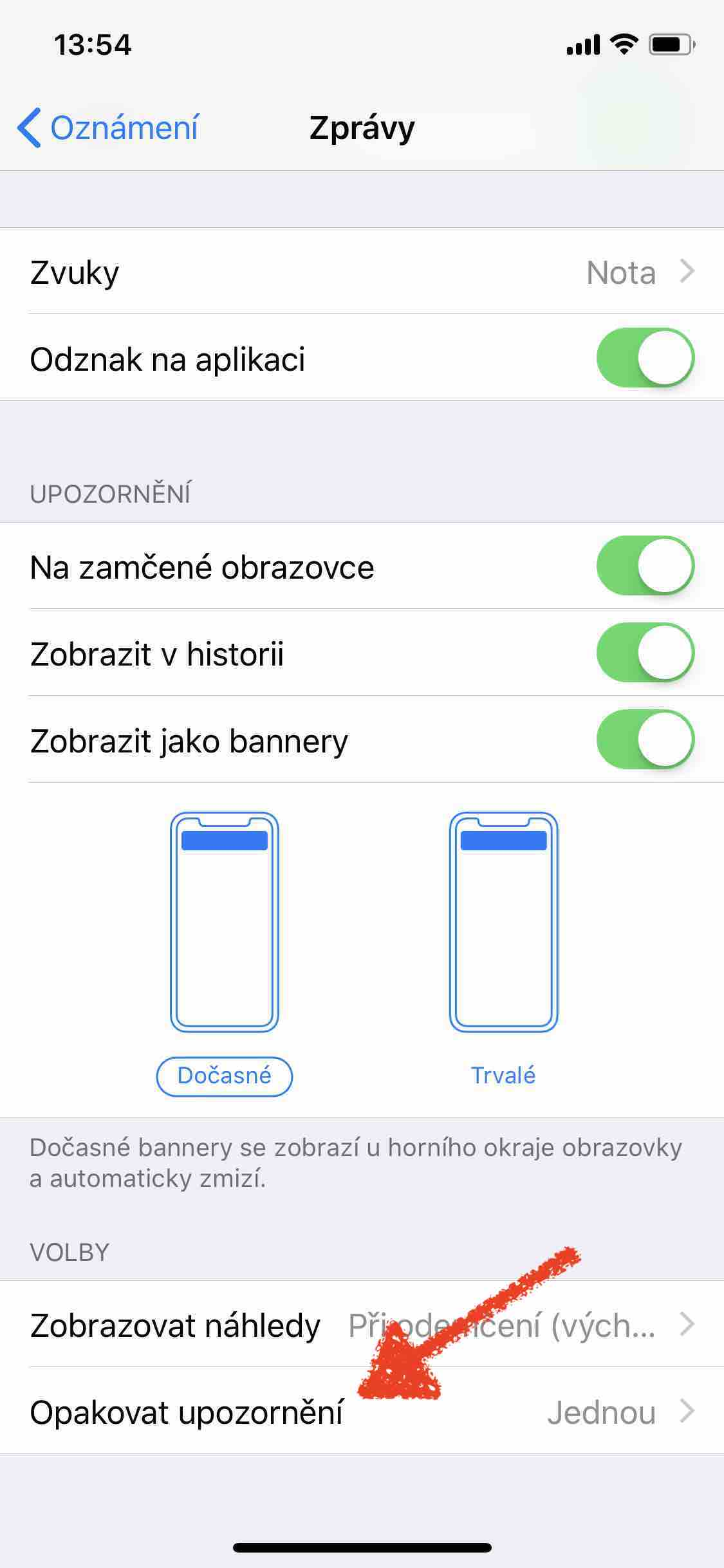 SMS oznameni jednou 2