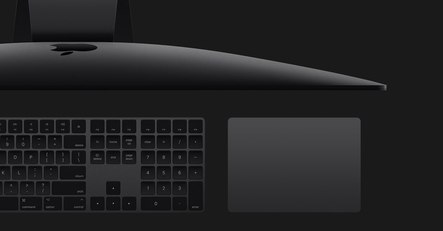 iMac Pro Space gray magic keyboard trackpad FB