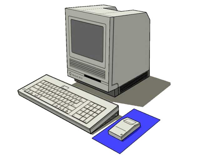 Simple-Apple-Macintosh-SE30-Personal-Computer-Papercraft