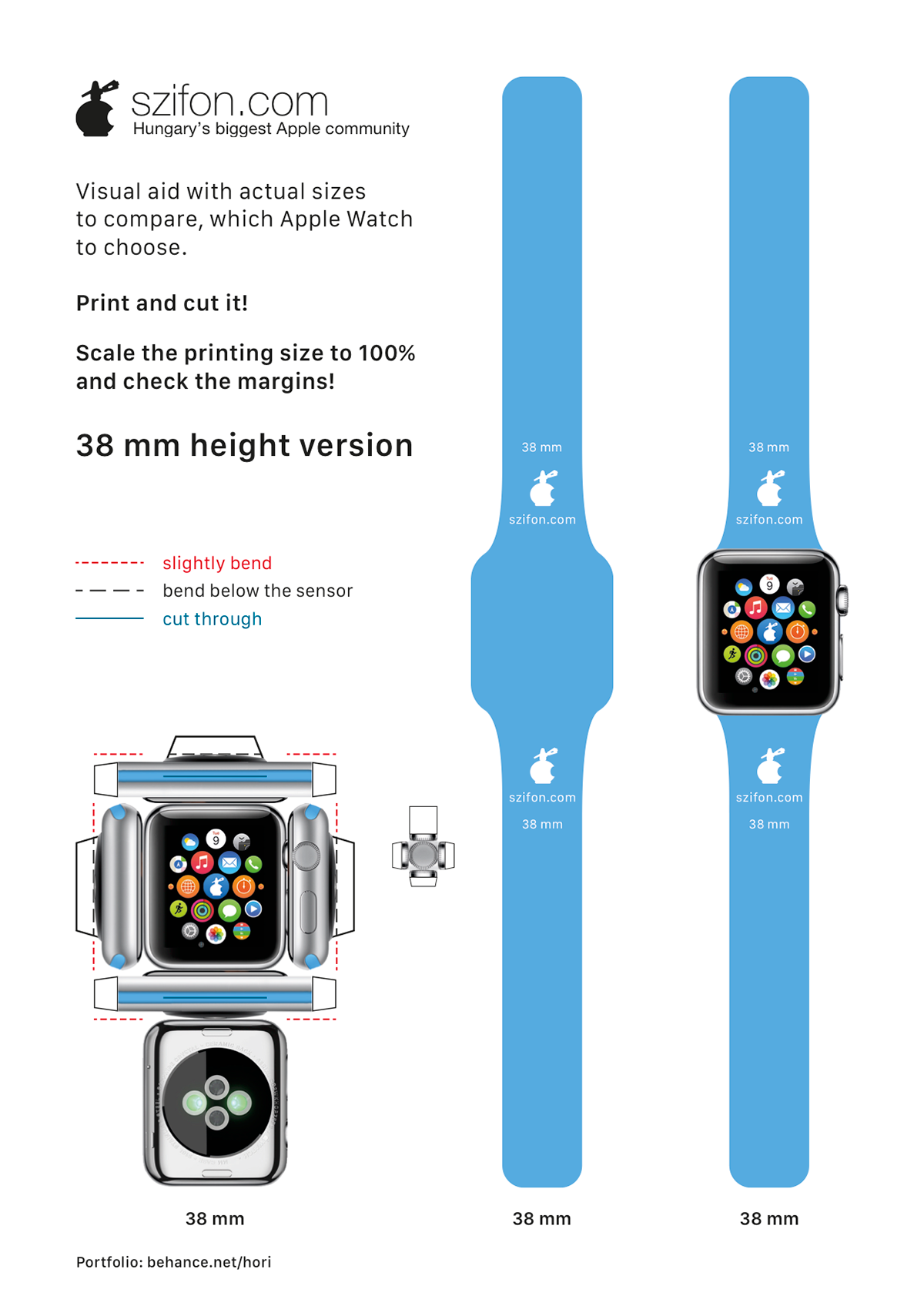apple watch papercraft