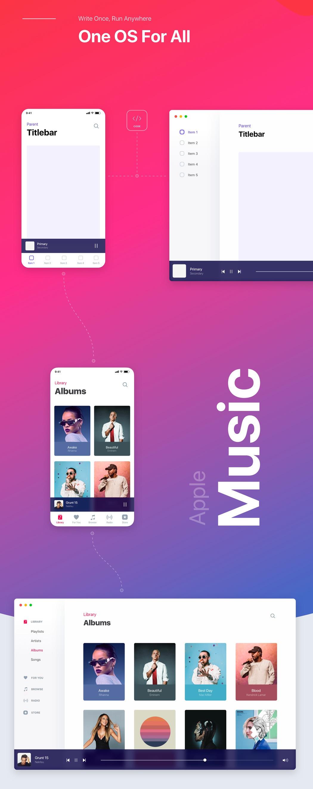 iOS a MacOS by v mnohých prípadoch dostali jednotný dizajn pre aplikácie. V tomto prípade je tu pekná ukážka na Apple Music - svetapple.sk