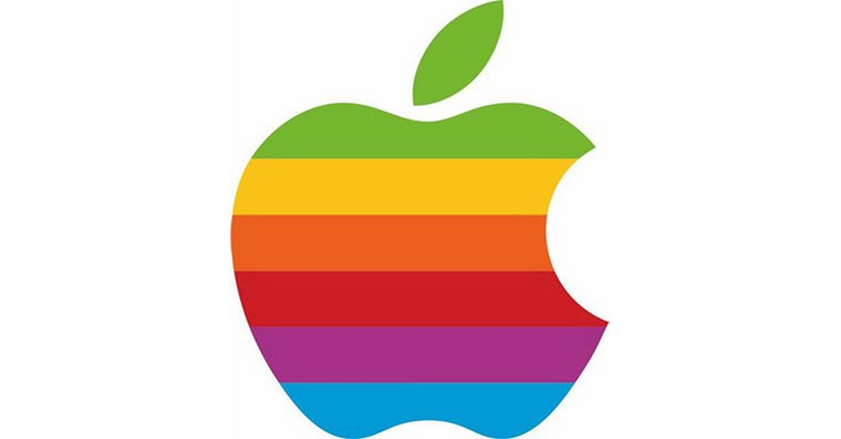 apple rainbow logo fb