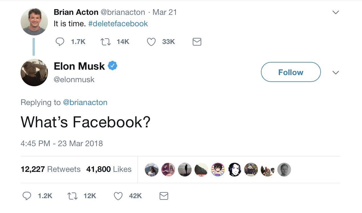 Elon musk deletefacebook