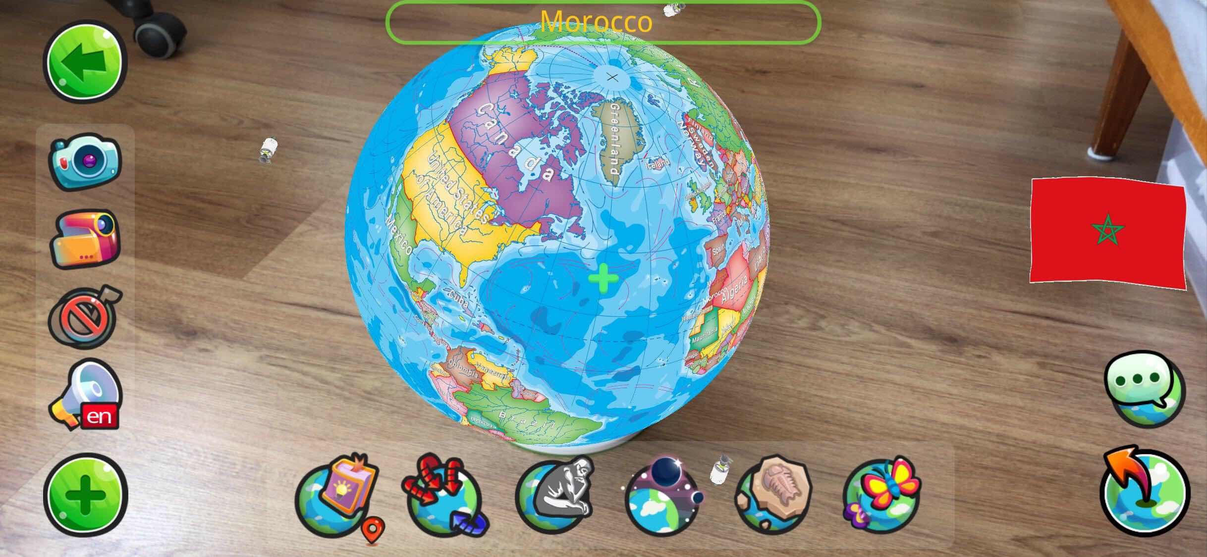Neobear AR Globe rezimy screen 1