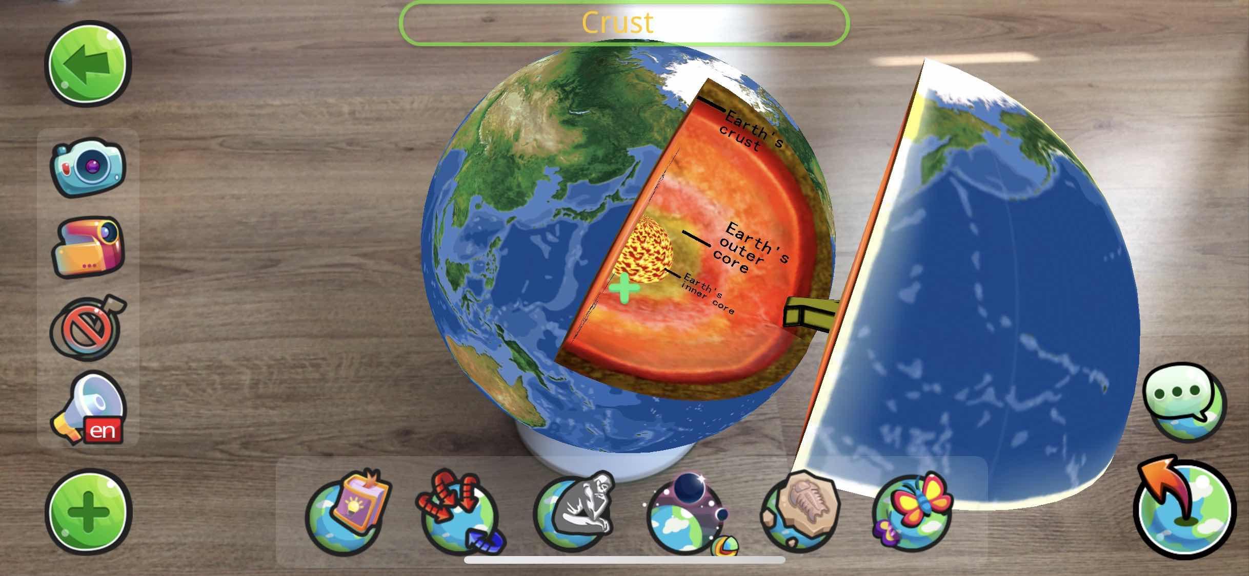 Neobear AR Globe rezimy screen 2