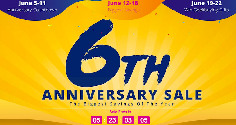 GeekBuying Anniversary fb