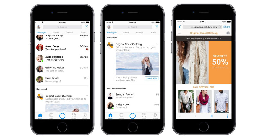 facebook reklama messenger