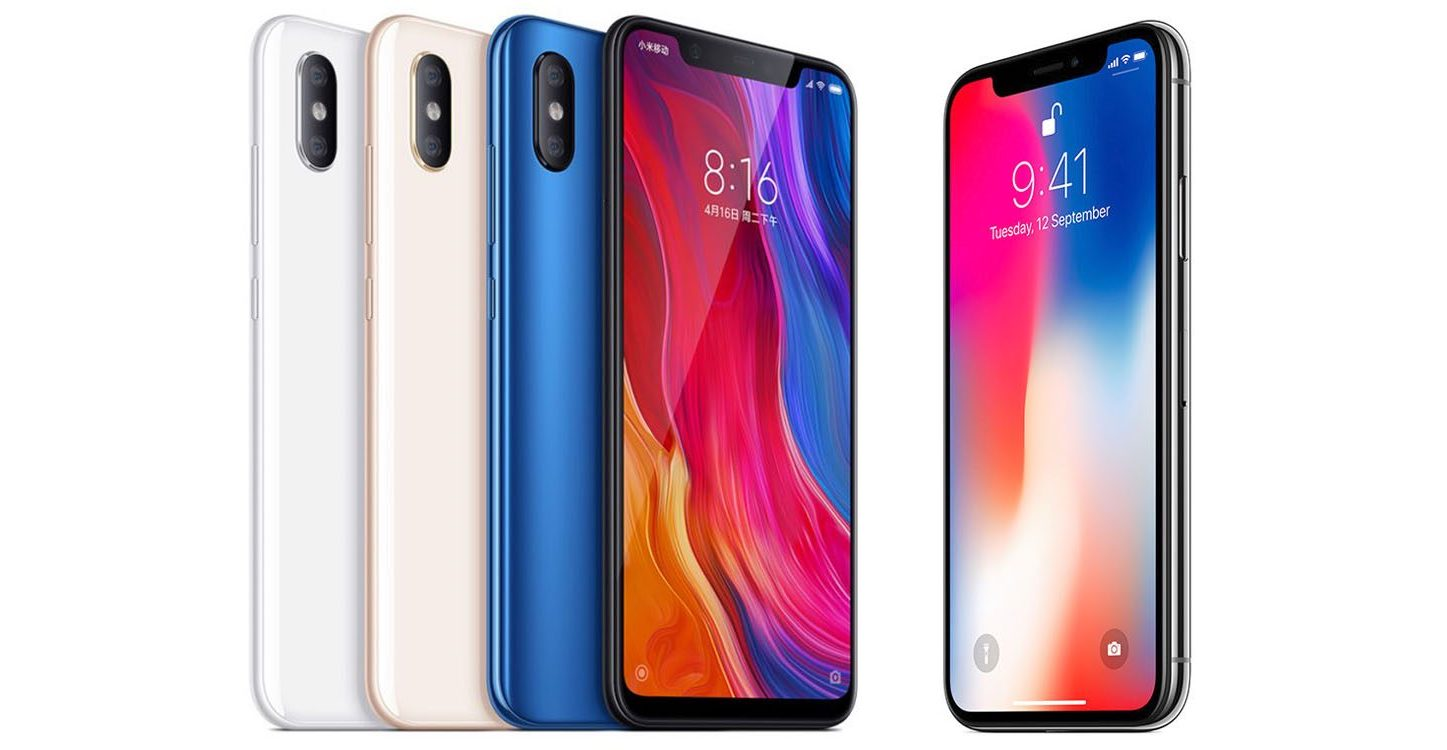 Xiaomi Mi 8 vs iPhone X