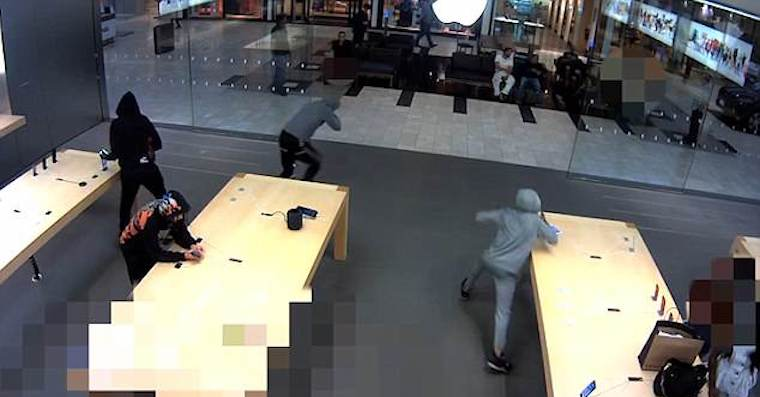 zlodeji apple store