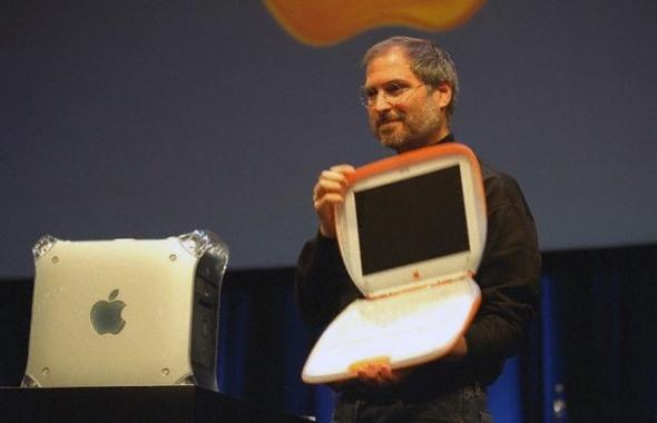 Steve Jobs Introducing iBook Laptop Mag