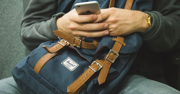 iPhone Backpack Unsplash