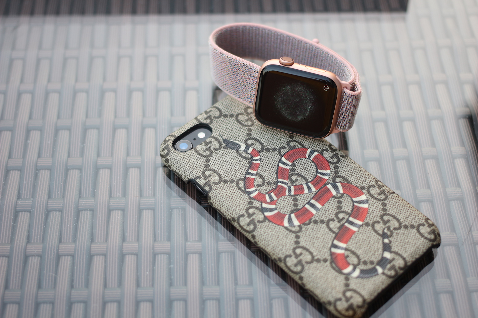 Gucci iphone case and apple watch