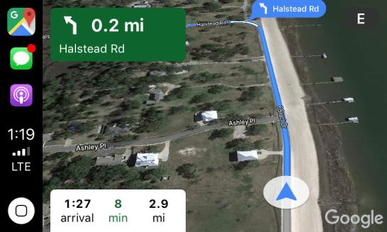 carplay google maps 4