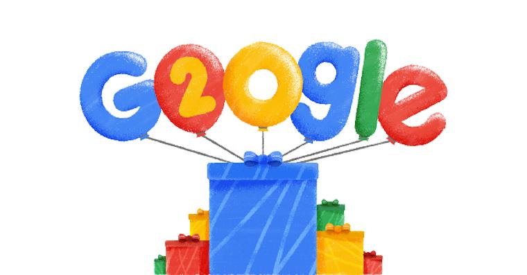google 20 let