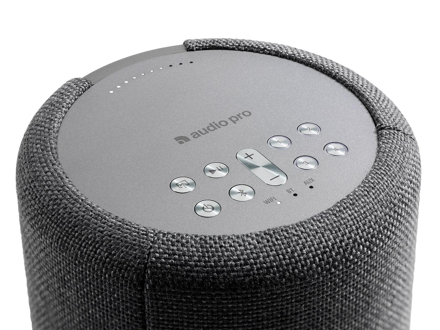 wireless-multiroom-speaker-A10-darkgray-detail-works-with-alexa-AudioPro